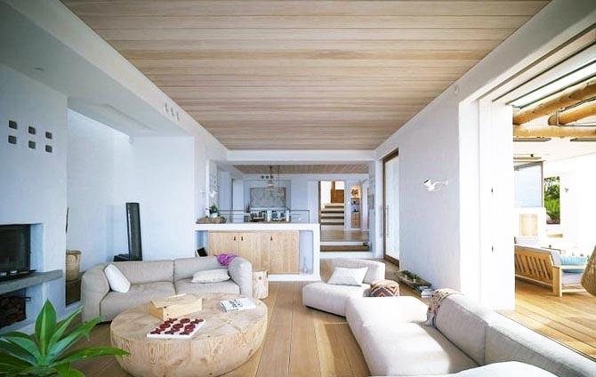 деревянный потолок 18