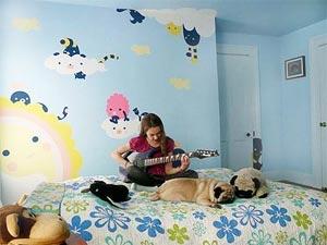 роспись стен в детской комнате фото1