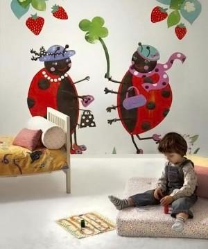 роспись стен в детской комнате 10