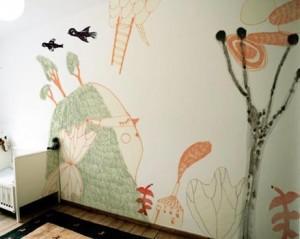 роспись стен в детской комнате 6