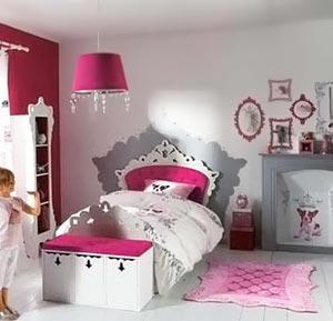 розовый цвет в детской комнате для девочки 001