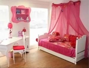 розовый цвет в детской комнате для девочки 003