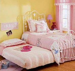 розовый цвет в детской комнате для девочки 004