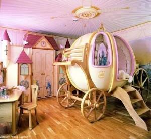 розовый цвет в детской комнате для девочки 008