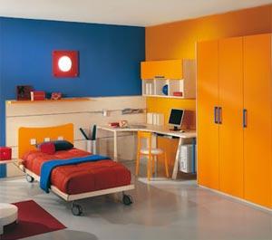 сочетание голубого и оранжевого 12
