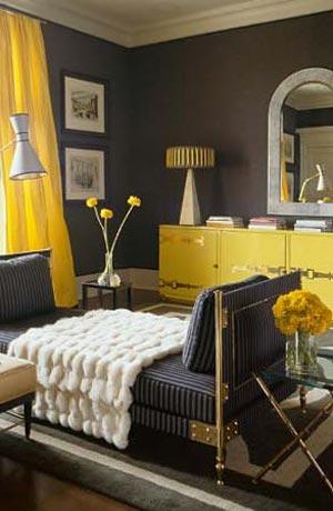 сочетание желтого и серого 11