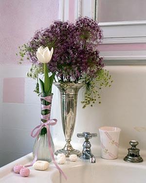 цветы в ванной комнате 20