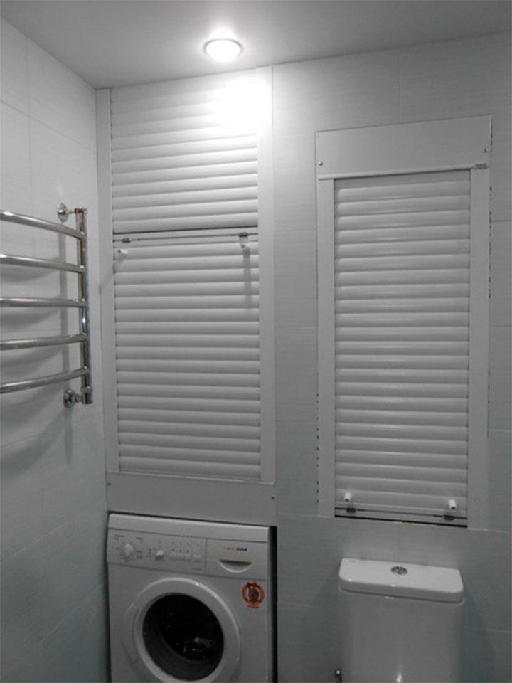 Рольставни для шкафа в туалете