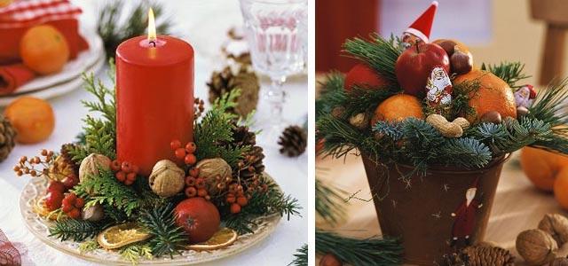 украшение новогоднего стола фото 001