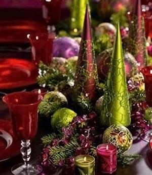 украшение новогоднего стола фото 012