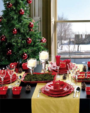украшение новогоднего стола фото 015