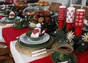 украшение новогоднего стола фото 019