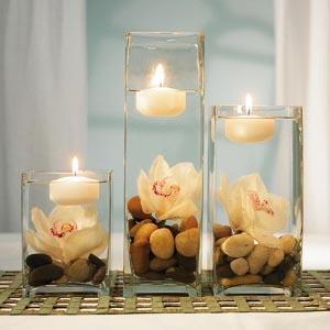 украшение стола цветами и свечами фото12