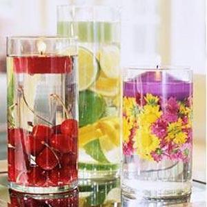 украшение стола цветами и свечами фото15