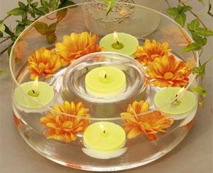 украшение стола цветами и свечами фото17