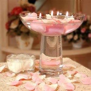 украшение стола цветами и свечами фото18