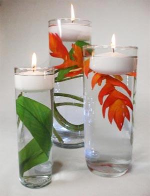 украшение стола цветами и свечами фото25