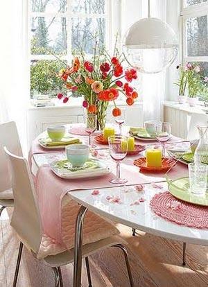 украшение стола цветами и свечами фото8