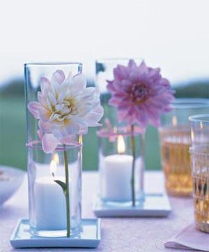 украшение стола цветами и свечами фото9