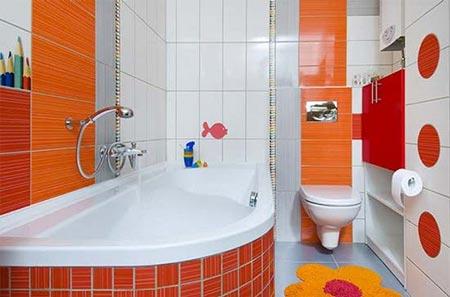 яркая ванная комната 16