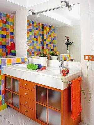 яркая ванная комната 27