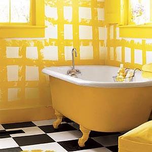 яркая ванная комната 40