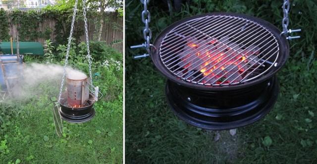 самодельная жаровня для барбекю2