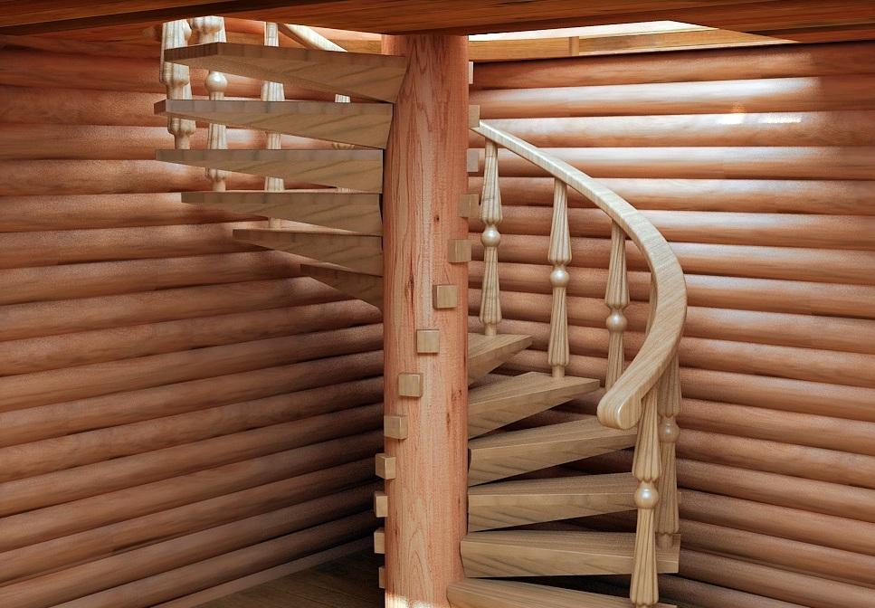 Лестница винтовая деревянная своими руками