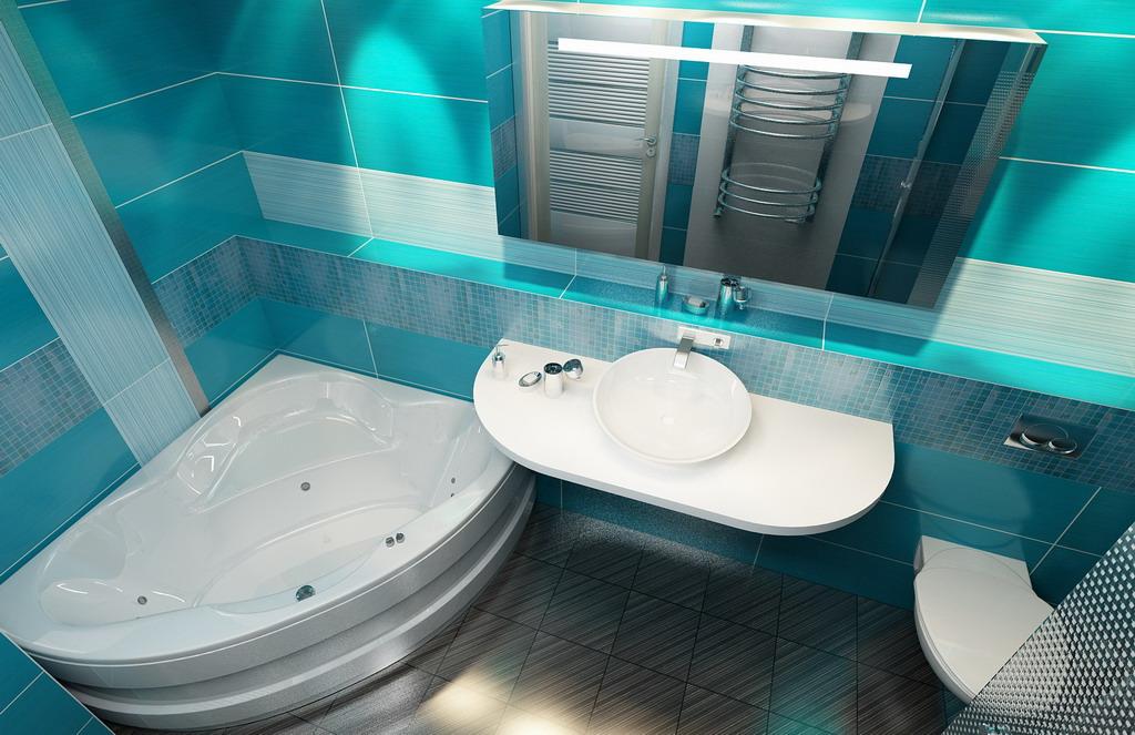Объединенная ванная комната дизайн