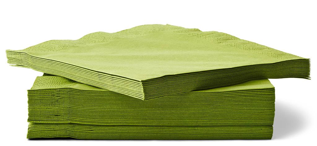 Зеленые салфетки для изготовления лотоса