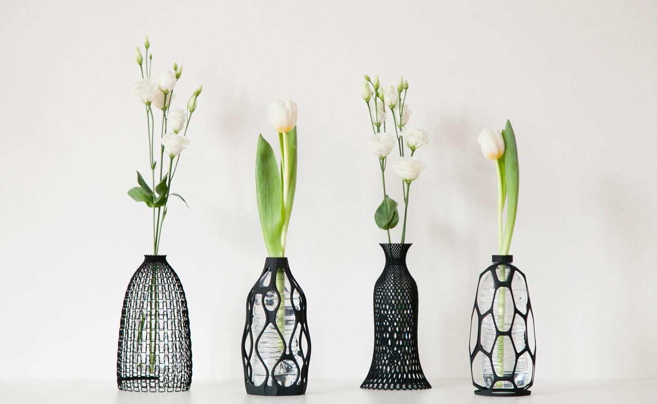 Печатные 3d-вазы, дающие новую жизнь старым бутылкам
