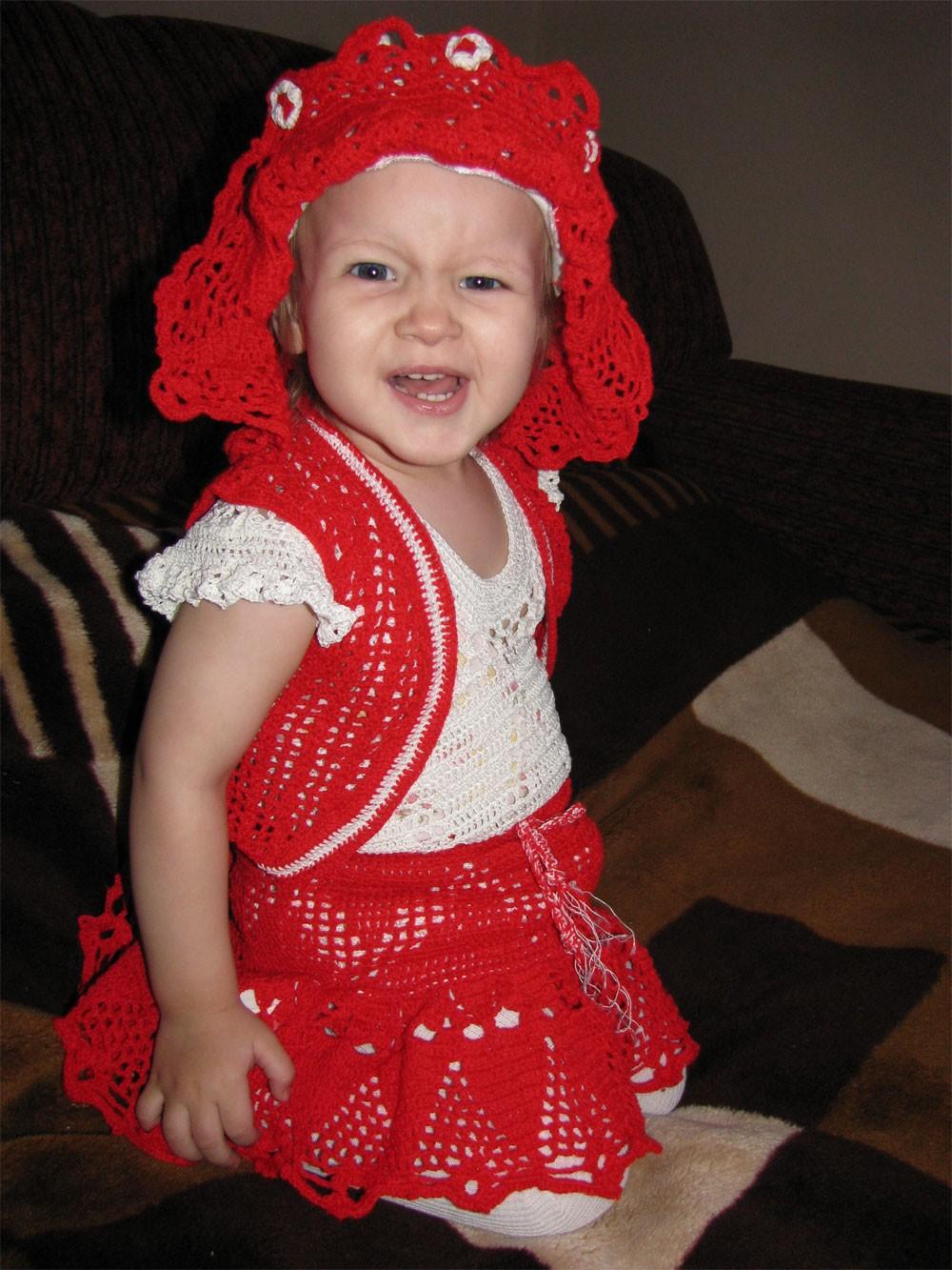 простые схемы вязания платья летнего для девочек до 3-х лет