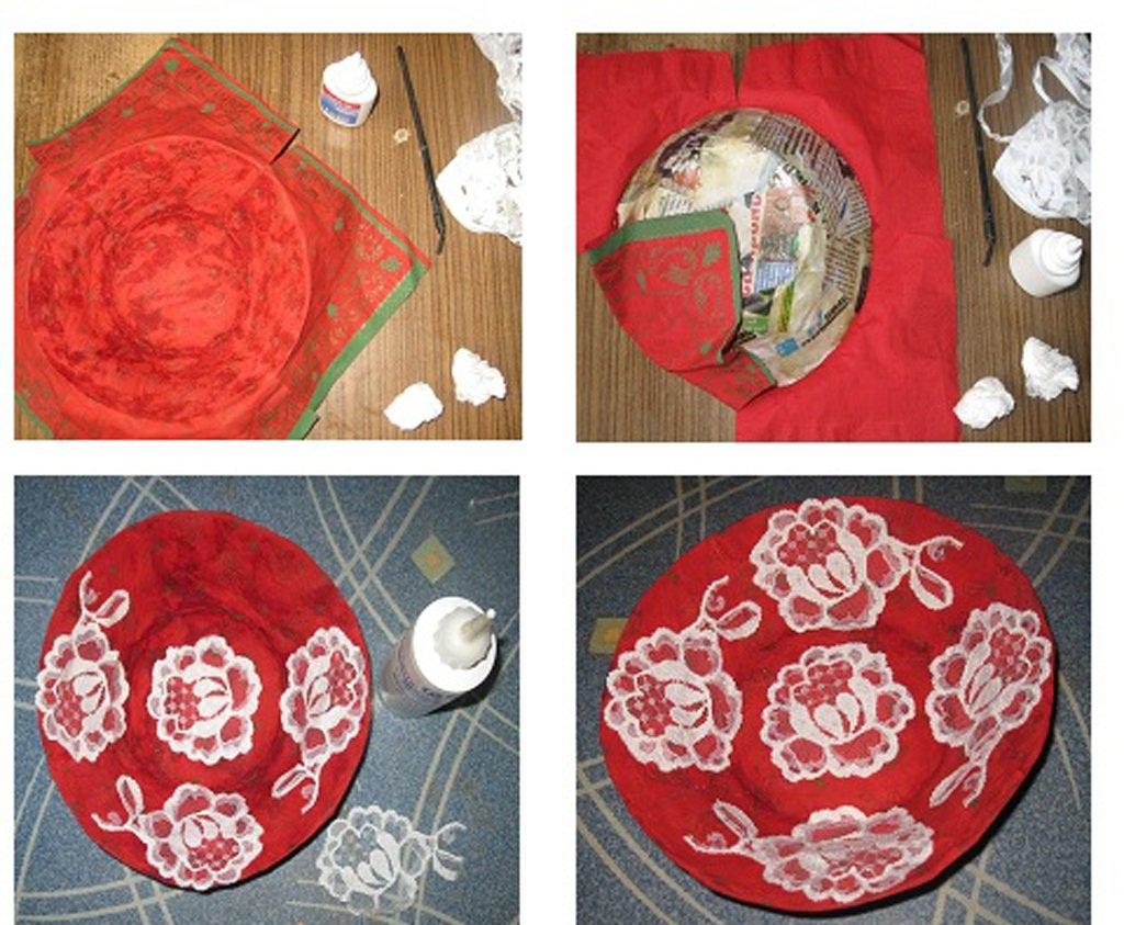 Изготовление декоративной тарелки своими руками