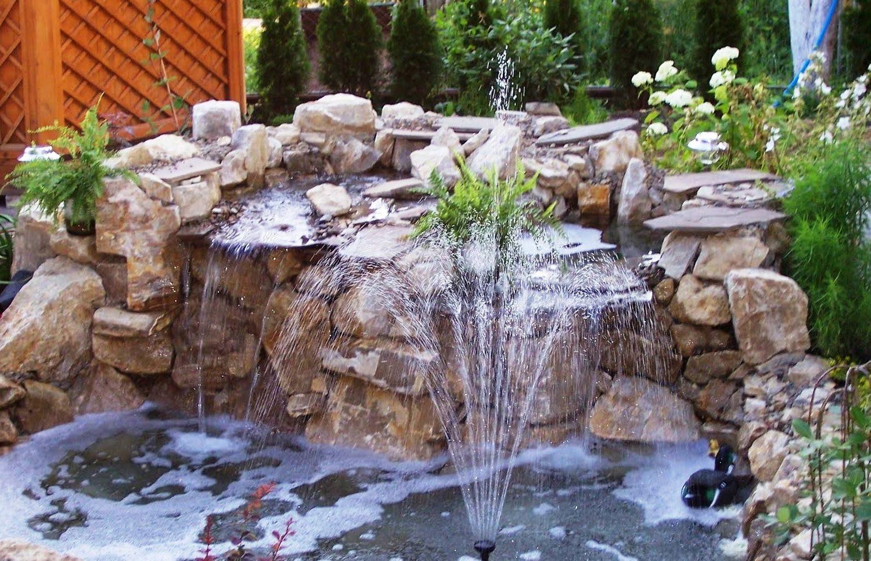 Декоративные фонтаны и водопады фото