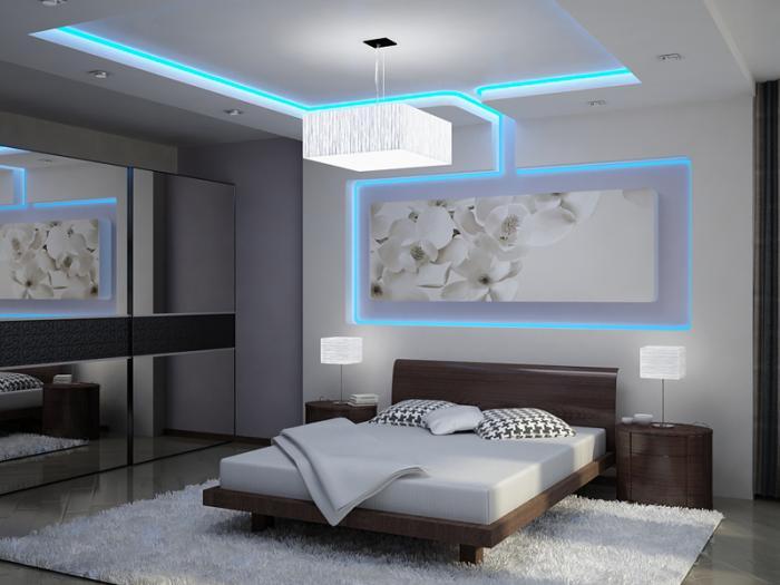 Декоративное освещение на потолках из гипсокартона