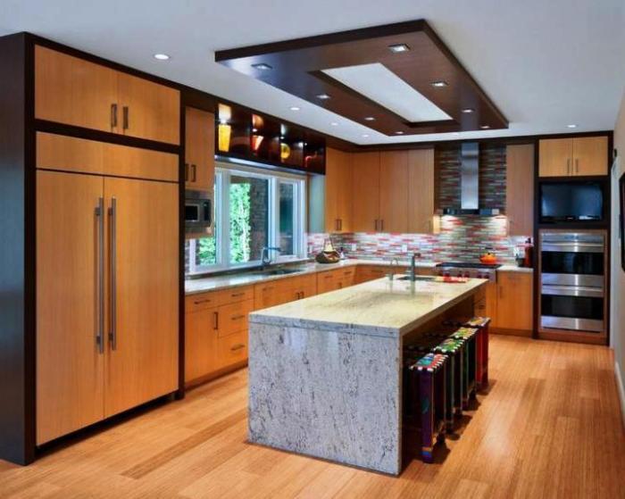 Потолки для кухни 10 кв м