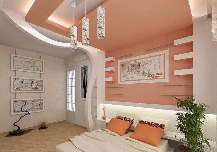 Идеи потолка из гипсокартона фото в комнате