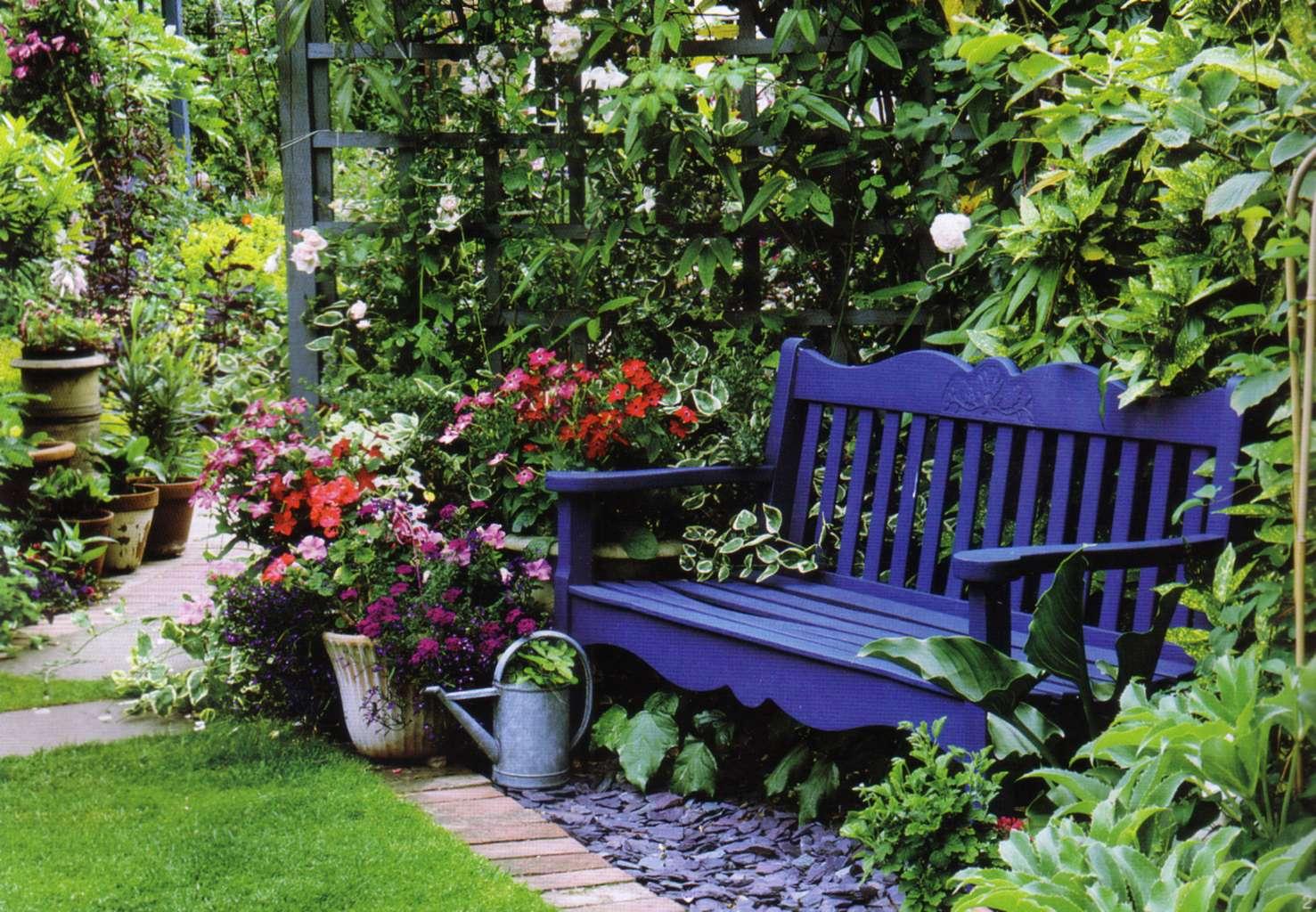 Садовая скамейка своими руками покрашенная