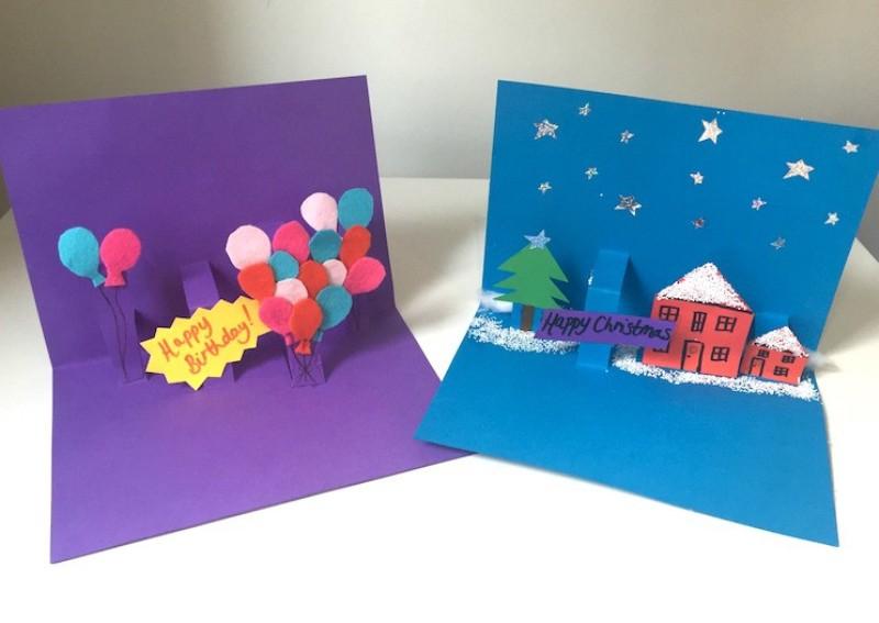 Празднику, открытки из бумаги для детей простые