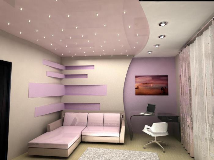 Целевое освещение на потолках из гипсокартона