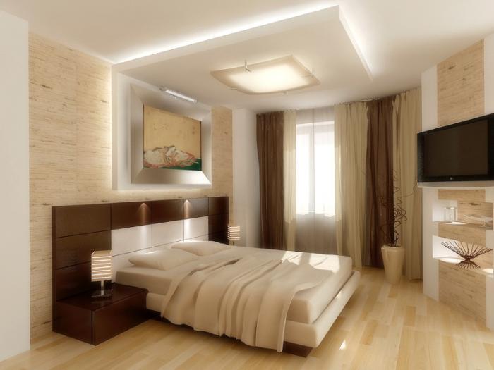 Дизайн потолка спальня