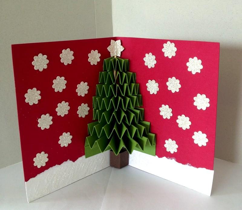 Как сделать новогоднюю открытку само, февраля