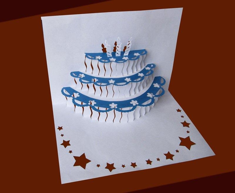 Зимняя открытка на день рождения сделать своими руками, про