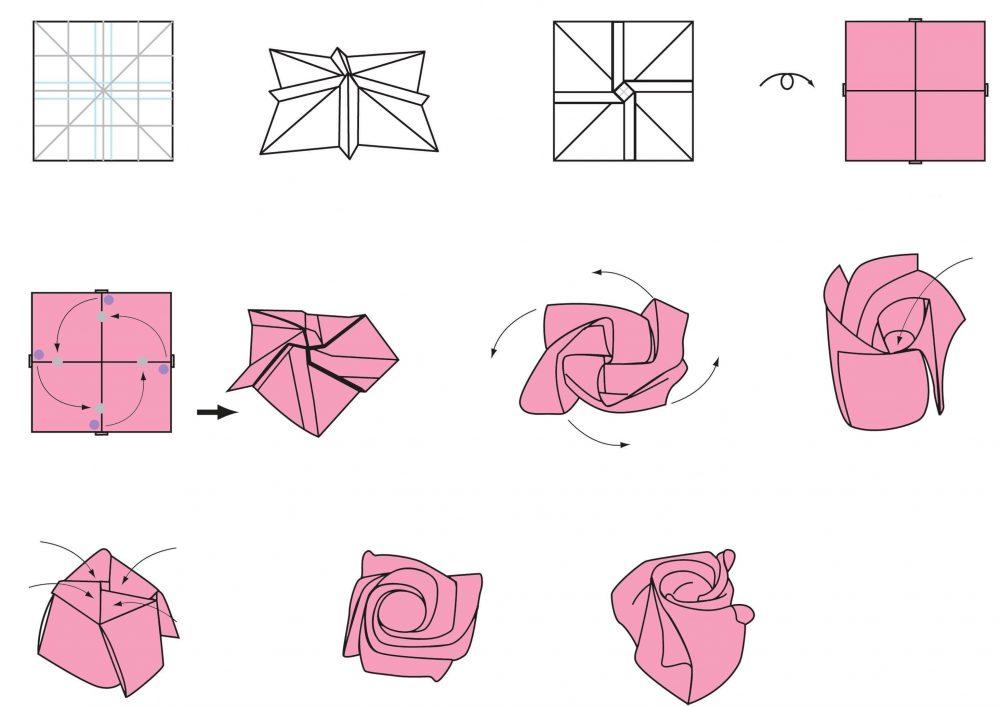 Цветок оригами своими руками схемы