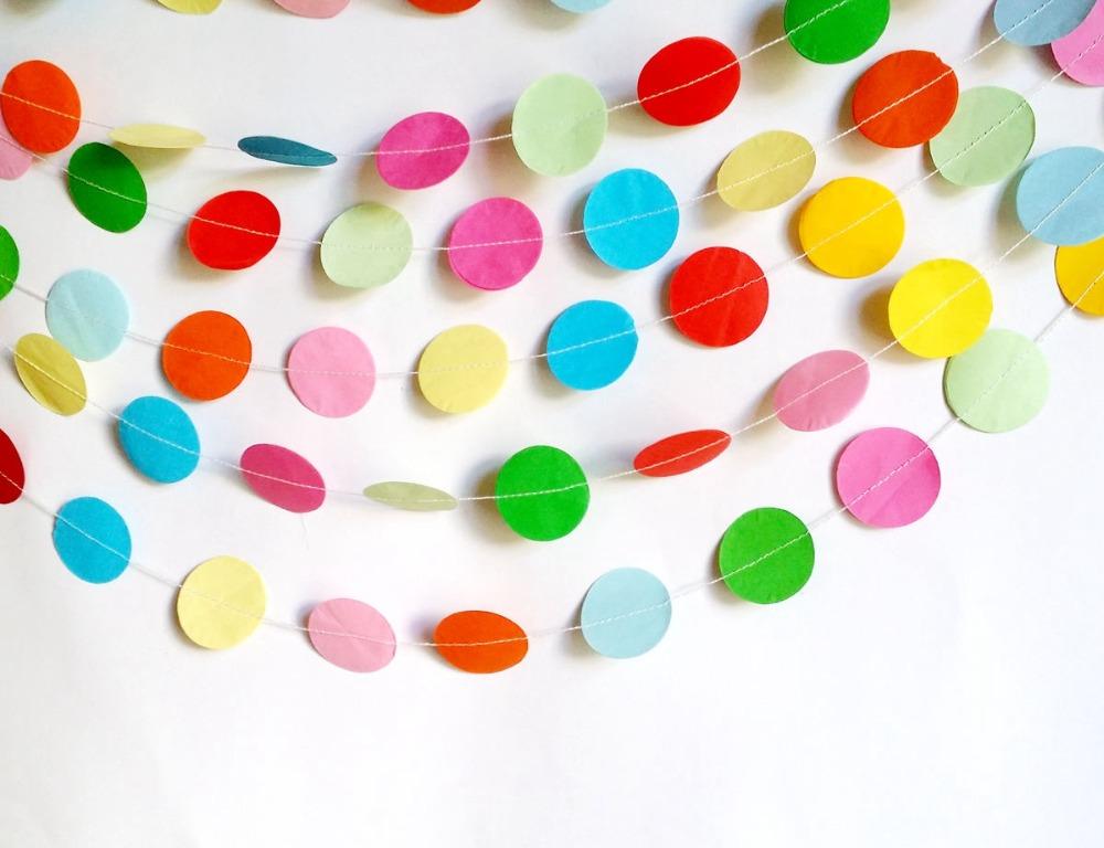 Как из цветной бумаги сделать гирлянду из
