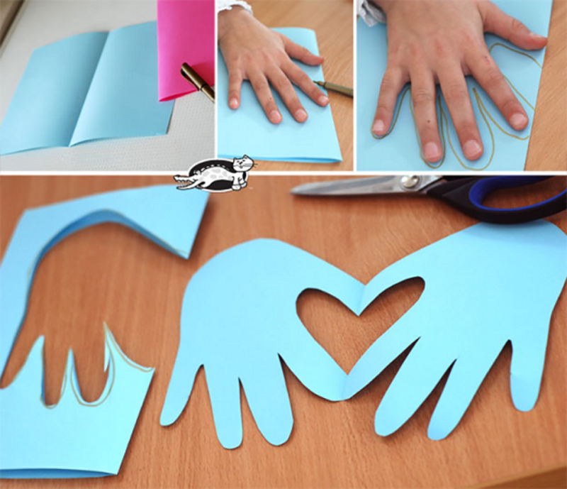 Как сделать из бумаги для маме