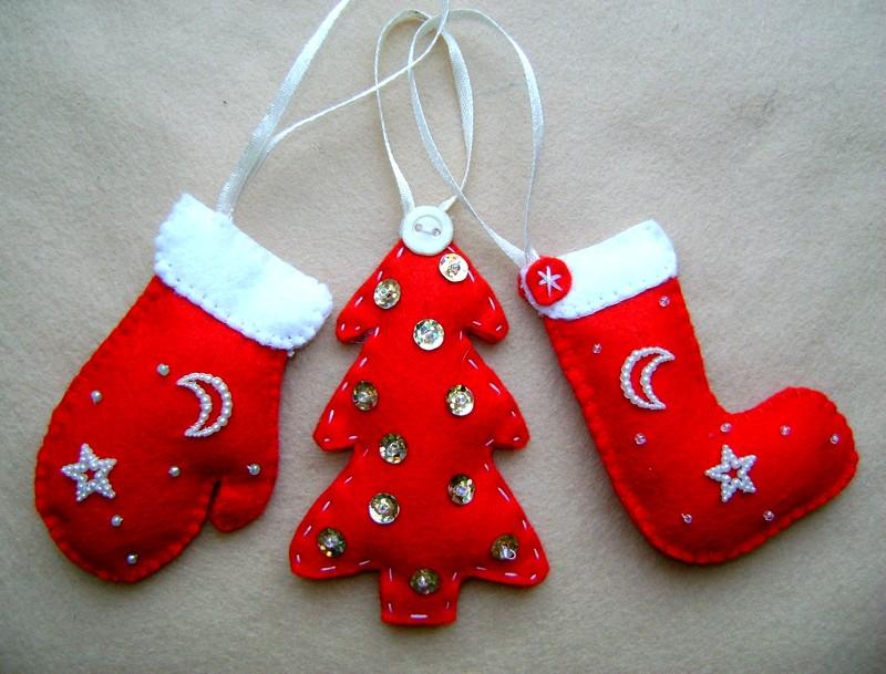 Новогодние рождественские игрушки своими руками