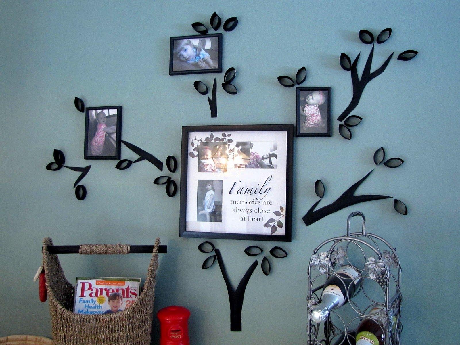 С помощью втулок можно создать семейное дерево на стене