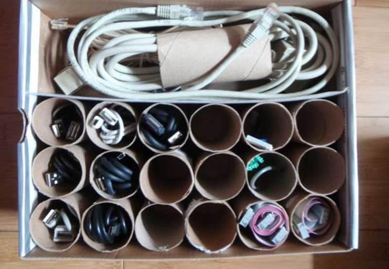 Втулки от туалетной бумаги полезны в хозяйстве