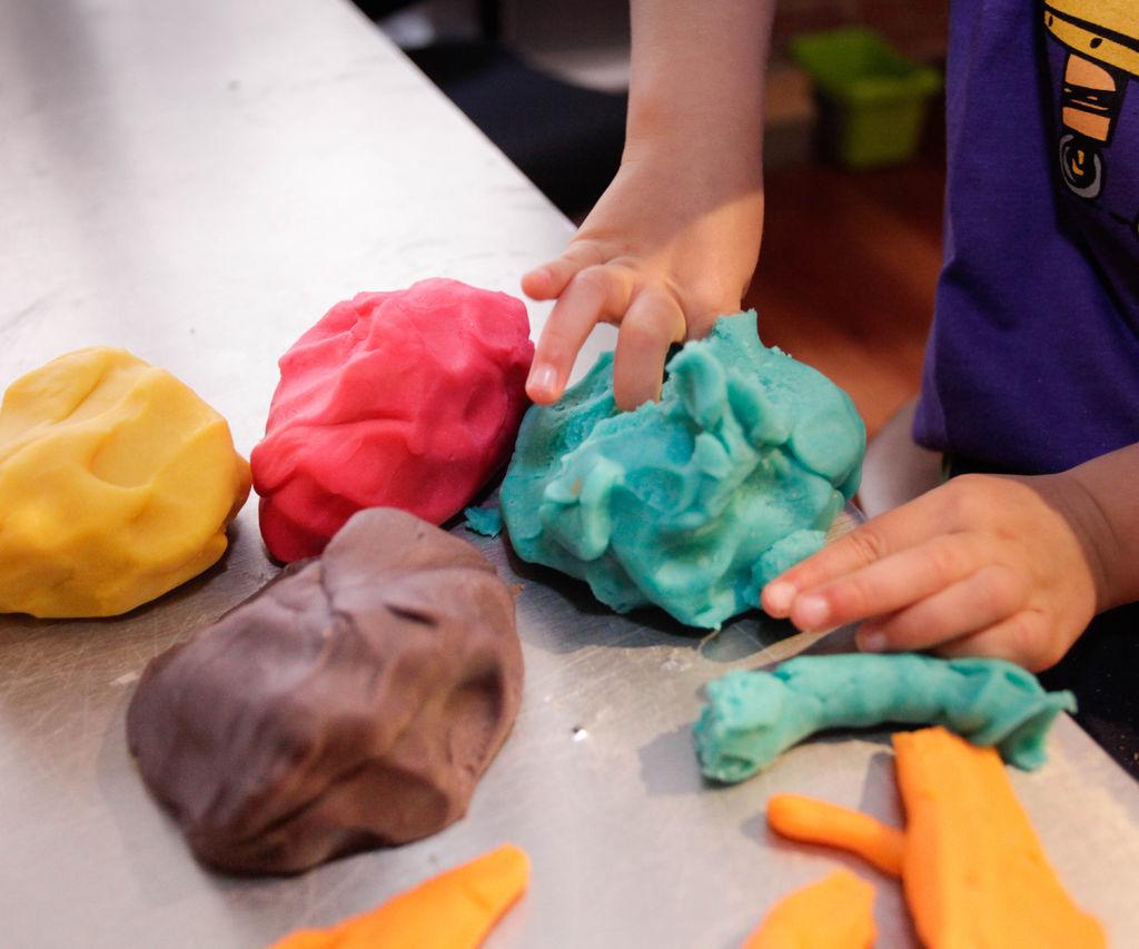 Тесто для лепки своими руками рецепт цветное
